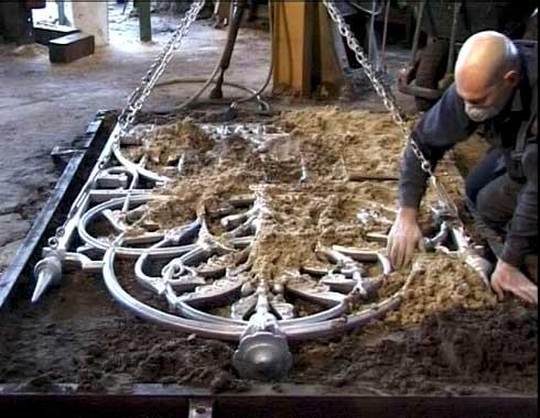 Using an original gate as a pattern. - Casting - Wrought Artworks - Iron work Australia