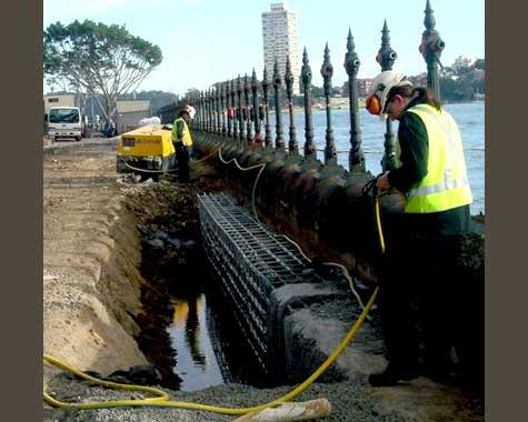 Sydney Harbour Balustrade removal - Erection and Installation - Wrought Artworks - Iron work Australia