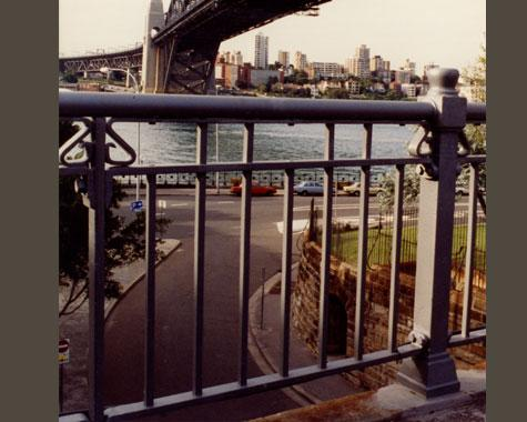 Hickson Rd Overbridge Railing - Gates and Fences - Wrought Artworks - Iron work Australia