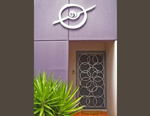Interlinked ring Security Door - Security Doors and Grills - Wrought Artworks - Iron work Australia