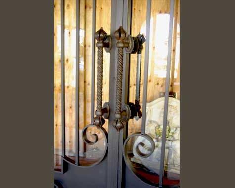 Onion Twist Door Handle   Security Doors And Grills   Wrought Artworks    Iron Work Australia