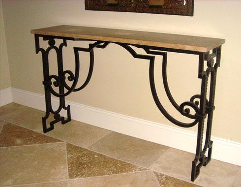 Poillerat Console - Tables and Chairs - Wrought Artworks - Iron work Australia