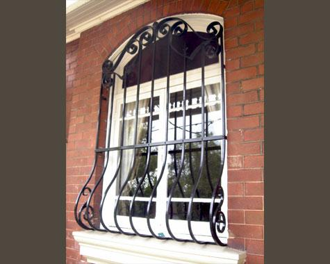 Victorian forged window grill - Security Doors and Grills - Wrought Artworks - Iron work Australia