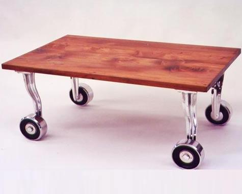 Rimu Roller coffee table - Tables and Chairs - Wrought Artworks - Iron work Australia