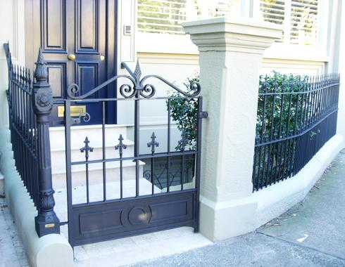 Victorian terrace house  Gate - Gates and Fencing - Wrought Artworks - Iron work Australia