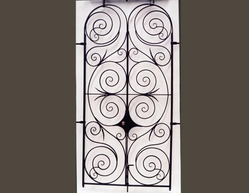 Italianate Villa Double doors - Security Doors and Grills - Wrought Artworks - Iron work Australia