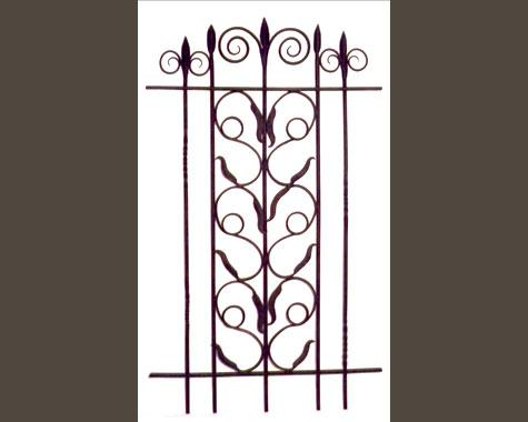 Plants & Scroll Window Security Grill - Security Doors and Grills - Wrought Artworks - Iron work Australia
