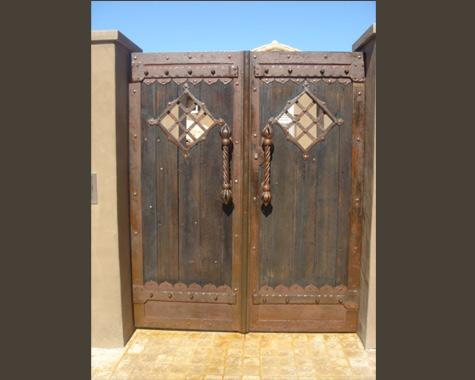 Morrocan Double Entrance Gate - Gates and Fencing - Wrought Artworks - Iron work Australia