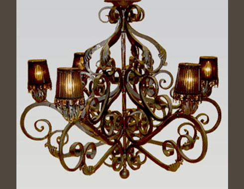 Faded grandeur 6 branch chandelier - Lighting - Wrought Artworks - Iron work Australia