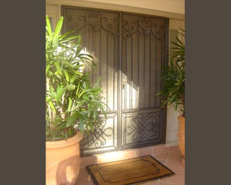 Classical Security Door - Security Doors and Grills - Wrought Artworks - Iron work Australia