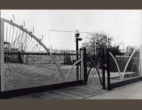Moriah College Sliding Gate - Fabrication - Wrought Artworks - Iron work Australia