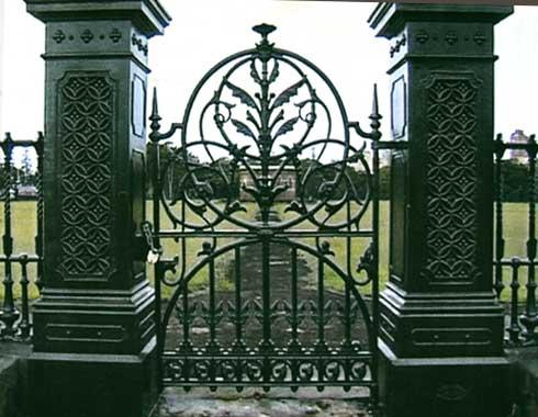 The Centennial Park Reservoir Gate - Casting - Wrought Artworks - Iron work Australia
