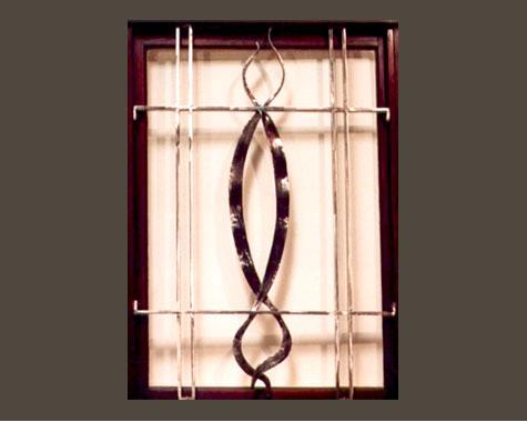 Window Grill With Ribbon Detail - Security Doors and Grills - Wrought Artworks - Iron work Australia