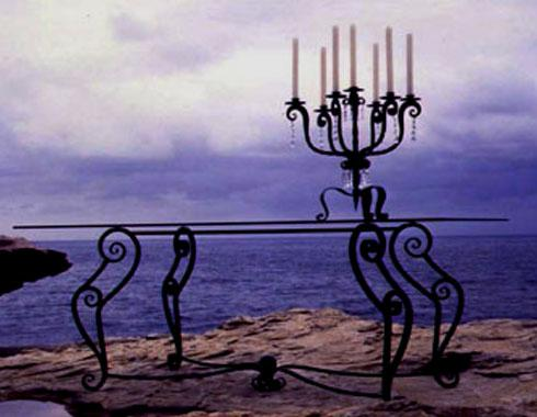 French Scroll Dining Table - Tables and Chairs - Wrought Artworks - Iron work Australia
