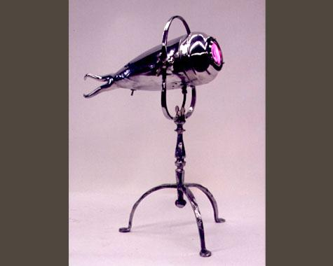 One eyed Squid Lamp - Lighting - Wrought Artworks - Iron work Australia