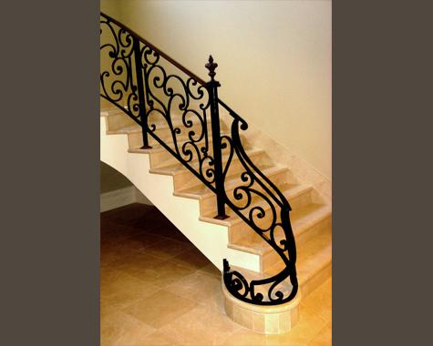 Venetian Staircase - Newal Post - Staircasses - Wrought Artworks - Iron work Australia