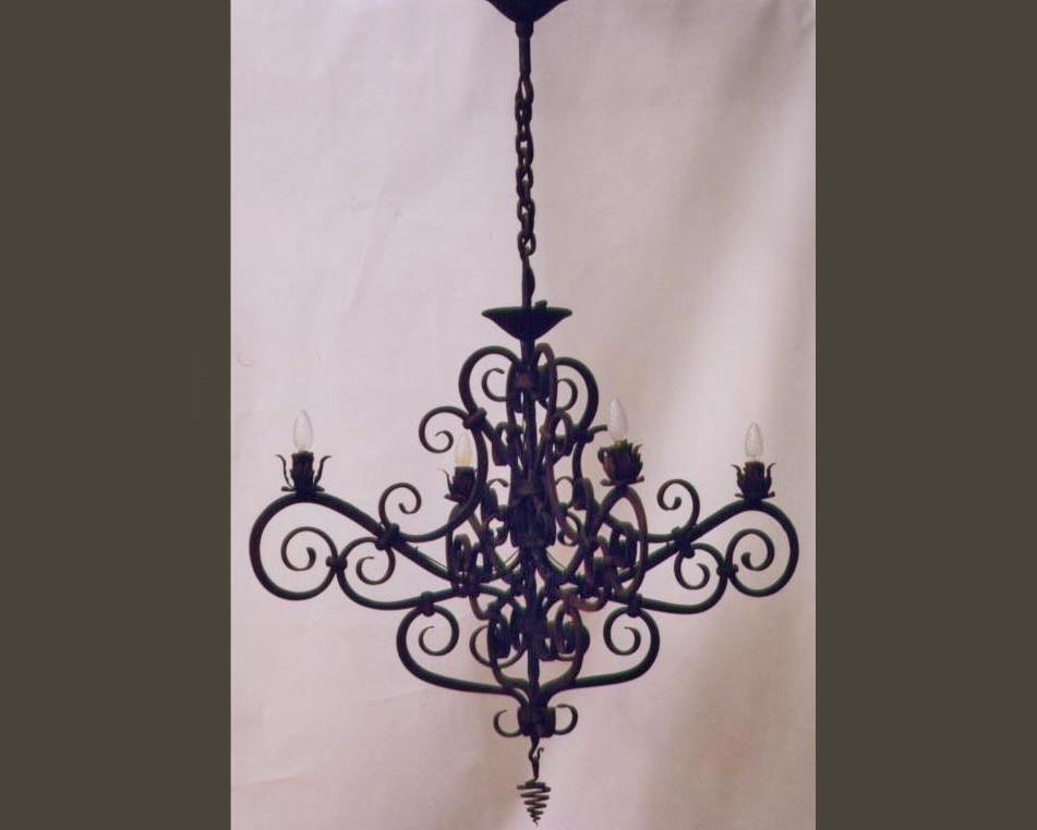 Traditional Spanish Chandelier Lighting Wrought Artworks Iron Work Australia