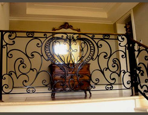 Venetian gallery balustrade - Staircasses - Wrought Artworks - Iron work Australia