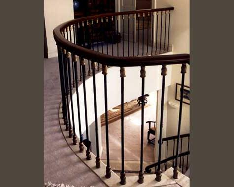 Peak Apartment Gallery balustrade - Staircasses - Wrought Artworks - Iron work Australia
